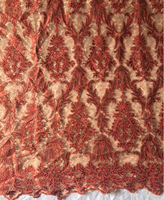 Used Embroidered Rich Fabric - Brown in Dubai, UAE