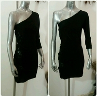 Used Of Shoulder Black Dress Small Size New  in Dubai, UAE