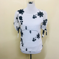 Classic Embroidered top floral Size S