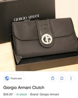 Used Armani clutch  in Dubai, UAE