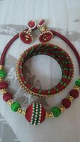Used Silk thread Necklace and earrings bangel in Dubai, UAE