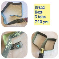 Used Next brand 3 Belts for boys 7-10yrs in Dubai, UAE