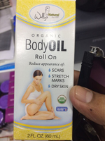 Massage body oil roll on