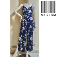 Used Blue floral jumpsuit-medium in Dubai, UAE