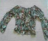 Used Body Central Animal/Floral Print Cropped Boho Blouse  in Dubai, UAE