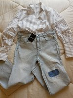 Used DKNY jeans & Mango Shirt Size M in Dubai, UAE