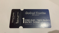 Used 2 Dubai parks tickets  in Dubai, UAE