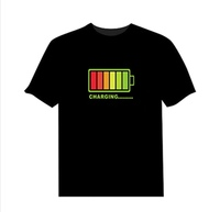 LED T-shirt Voice-activated Flash size M