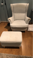 Used 2 wing chairs with stool in Dubai, UAE