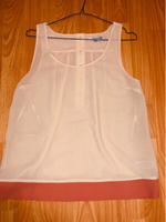 Used Forever 21 Cream sheer top, with pink in Dubai, UAE