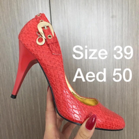 Used Red Snake Skin Heels in Dubai, UAE