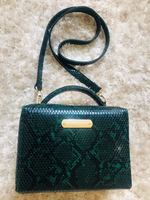 Used Snake green and black hand bag for ladie in Dubai, UAE