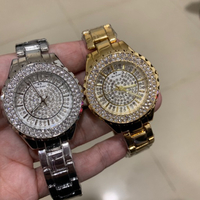 2 x ladies watch with rhinestones