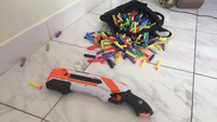 Used Nerf shotgun 2*4 with500bullets in Dubai, UAE