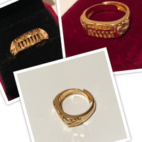 Used Golden adjustable ring unisex  in Dubai, UAE