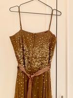 Used Gold Embroidered Dress Sequins - Sz M in Dubai, UAE