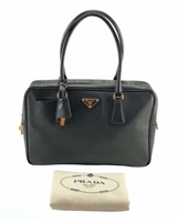 Used Prada Saffiano Lux Leather Bauletto Bag in Dubai, UAE