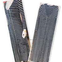 Used Long Dress stripe L/XL💙 in Dubai, UAE
