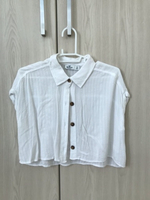 Used Hollister white crop shirt  in Dubai, UAE