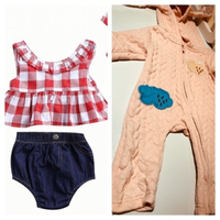 Used Jumpsuit rabbit and 3 pcs set 6-9M in Dubai, UAE