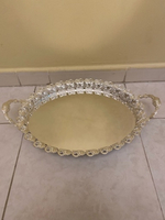 Used Silver serving tray rounded with handles in Dubai, UAE