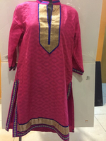 New Pink cotton kurta with boarder