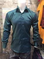 Used Green Shiny Polyester shirt for Men in Dubai, UAE