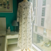 Used Long Floral Dress - Free Size White in Dubai, UAE
