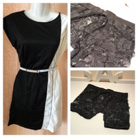 Used 2 dresses M & 1 lace brief Size M in Dubai, UAE