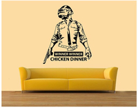 Used Pubg wall sticker chicken dinner120x99cm in Dubai, UAE