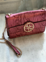 Used Guess leather pink bag in Dubai, UAE