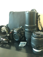 Used Nikon D3200 dslr with 2 lens urgent sale in Dubai, UAE