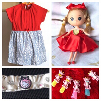 Used New Baby dress,doll, hair band & clips❤️ in Dubai, UAE
