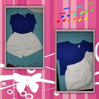 Bundle preloved blouse & short