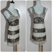 Used New brown tiger short dress for lady. in Dubai, UAE