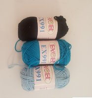 Crochet Threads 3 colors