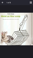 Cat litter metal scoop
