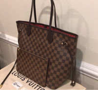 Used LV neverfull damier MM size (preloved) in Dubai, UAE