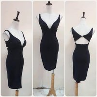 Used Black Slimfit Backless dress for lady. in Dubai, UAE