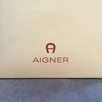 Used Aigner Authentic Black Leather Bracelet  in Dubai, UAE