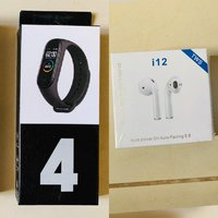 Used M4 Smart band with wireless airpods i12 in Dubai, UAE