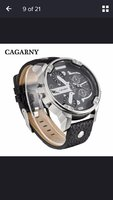 Used New extra large size black watch for him in Dubai, UAE
