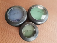 Used Set of 3 M.A.C Eyeshadows-Green & Blue in Dubai, UAE