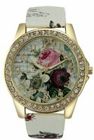 Rose Dail White Flower Watch For Women