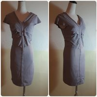 Fabulous short dress grey color stretchs