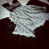 Black and white ball room gown