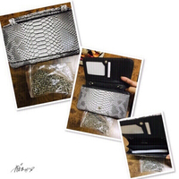 Used Clutch/ Sling Bag Snake skin color ♏️ in Dubai, UAE