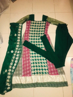Used 3 piece green stitched embroided suit.. in Dubai, UAE