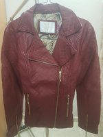 Used Women Red Leather Jacket in Dubai, UAE