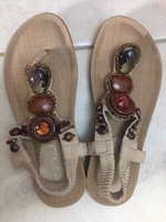 Used Brand New Sandals with stones size 6 in Dubai, UAE